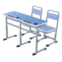 Quality Double Primary School Student Desk And Chair Set 1.2 MM Steel Electrostatic Spraying for sale