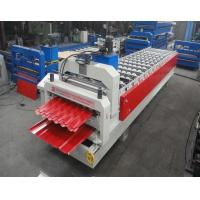 Quality Glazed Tile / Trapezoidal Double Sheet Roll Forming Machine Width 1250MM for sale