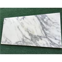 Quality White Calacatta Marble Natural Stone Tile For Bathroom 10mm Thickness for sale