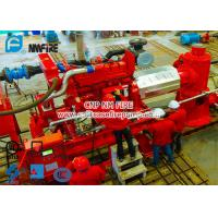 Buy cheap Diesel Engine Driven Fire Water Pump Set With 6 stage Multistage Vertical Turbine Fire Pump With 250 Usgpm from wholesalers