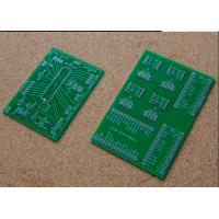 China 1 Layer Single Sided FR4 PCB Board Green Solder Mask For TV Mother Board on sale
