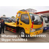 China famous JAC brand flatbed towing vehicle for sale, JAC brand 4*2 LHD car