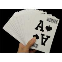 Quality 310gsm Black Core Paper Casino Playing Cards Professional Custom with Bar Code for sale
