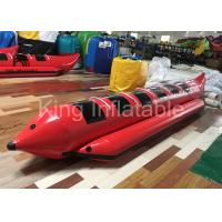 Quality Red Water Game Banana Boat Inflatable Fly Fishing Boats For Water Racing Sport for sale
