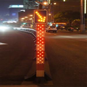 Buy cheap IP65 Solar Powered Traffic Bollards LED Road Signals Keep Left Bollard from wholesalers
