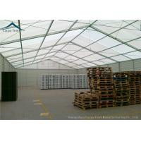 Quality 25m X 40m PVC Wall Covering Warehouse Tents With Auto Roller Up Door for sale
