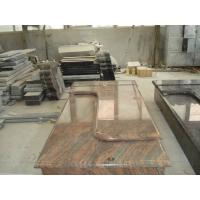 Quality Multicolor Red Granite Stone Tombstones For Graves French Style Acid Resistant for sale