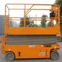 Buy cheap Manual Powered Movable Scissor Lift Pallet Scissor Lift Platforms One Man from wholesalers