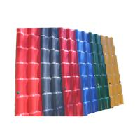 China Waterproof Performance Corrugated Pvc Plastic Synthetic Resin Building Roof Tiles on sale