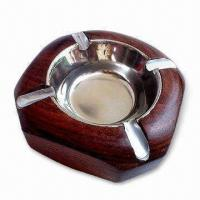Quality Ashtray, Made of Wood, Customized Designs are Acceptable for sale
