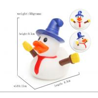 Quality Snowman Shape Rubber duck Funny Christmas Themed Rubber Ducks For Holiday Decoration Outdoor for sale