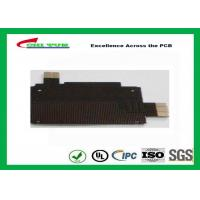 Quality Black Solder Mask Flexible PCB Manufacturing for Mobile Phone , 1mil PI Material for sale