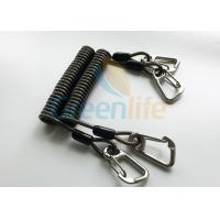 Quality High Security Coil Tool Lanyard Steel Reinforced 125MM Retractable Extension Cord for sale