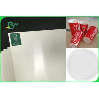China Customized Single Side PE Coated Paper For Disposable Plates FSC FDA Approved on sale