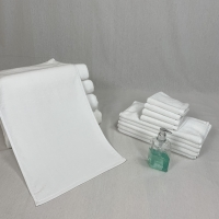 Quality Rectangular Water Absorbent White Cotton Face Towel for sale