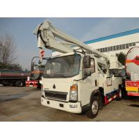 Quality HOWO 8-24 Meters Height Aerial Work Platform Arm Lift Bucket Truck 8 Tons Diesel Fuel Type for sale