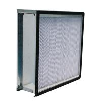 Quality 24x24x12 Deep Pleat HEPA Air Filter Galvanized Steel Frame With Flange for sale