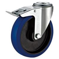 Quality Lockable Heavy Duty Industrial Casters / Carts Hollow Kingpin Swivel Caster for sale
