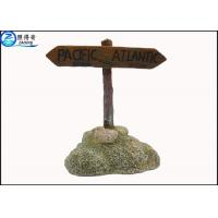 Buy Colorful Guidepost  Resin Fish Aquarium Ornaments , Commercial Fish Tank Sign Decorations at wholesale prices