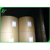 Quality 80 100 120 135 145gsm One Side Coated Paper , White Kraft Paper Roll In Reel / Sheets for sale