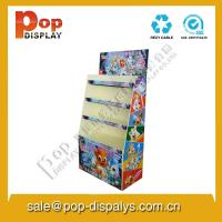 Quality Book / Stationery Cardboard Floor Display Stands For Marketing for sale