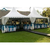 Quality White PVC Small Pagoda Tents For Commercial Activities Wooden Flooring for sale