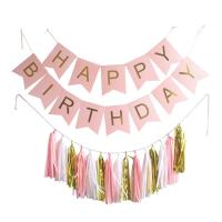 Buy Custom Printed Paper Letter Festival Party Decorations Wedding Party Banners And Tassel at wholesale prices