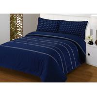 Buy cheap 4Pcs Blue Bedding Sets , 100% Cotton Diamond Embroidered Navy Simple Bedding from wholesalers