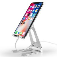 Quality COMER Adjustable portable and folding table aluminium tabletop phone hold for i phone tablet support stand holder for sale