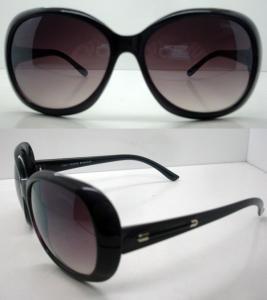 Quality Fashion Polarized Plastic Frame Sunglasses With Black AC Lens for sale