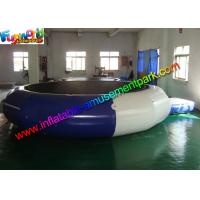 Quality Plato Durable Inflatable Water Toys Jumping Trampoline With Small Platform for sale
