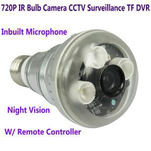 Quality 720P IR Night Vision LED Array Bulb Camcorder CCTV Surveillance DVR Camera Remote Control for sale