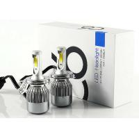 Quality C6 COB Bright LED Headlight Bulbs H4 Hi/Lo Beam 72W 7600LM Auto LED Headlamp 6000K for sale
