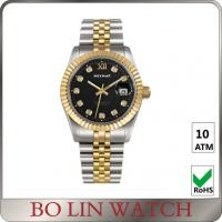 Quality Charm Swiss Movt. 18K Solid Gold Watches For Aidult Mineral / Sapphire Glass for sale