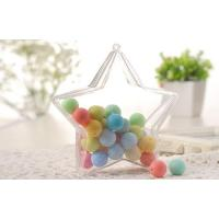 Quality five star shape candy  safe food grade plastic PS packaging containers for sale