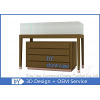 Buy Wood Jewelry Store Pedestal Showcase / Jewelry Counter Fixture at wholesale prices