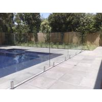 Quality 316 Anti-Rust Stainless Steel Spigots Frameless Swimming Pool Glass Railing for sale