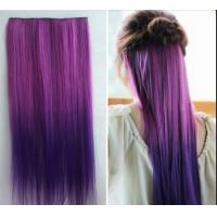 Quality No Shedding Synthetic Hair Weave Extensions Machine Made 100 Gram Coloured for sale