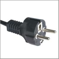 Quality VDE European type F power cord with CEE7/7 straight plug for sale
