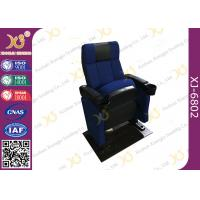 Quality SGS Foldable Metal Frame Movie Theater Seats With High Density Molded Foam for sale