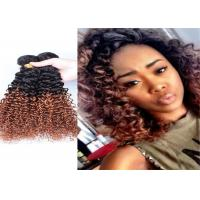 Quality Colored Brazilian Hair Extensions Pure Human Hair , Fashion Double Weft Hair Extensions for sale