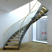 Quality Best Selling Stainless Steel Modular Round Curved Stairs with Customized Service for sale