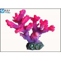 Quality Customized Rose Red Coral Aquarium Tank Decorations Fish Resin Ornaments for Home for sale