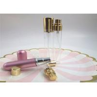 Quality Travel Set Round Refillable 10ml Glass Perfume Spray Bottles With Silver Gold Cap for sale