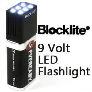 6 LEDs High Lumen LED Flashlight Environmental Friendly PC TPR Materials
