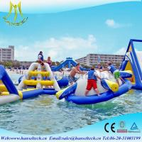 Quality Hansel terrfic PVC inflatable water jumping castles for sale for sale