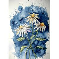 Quality flower painting wall art painting carnation for sale