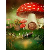 Quality Crystal Surface Decorative Wall Panel Sheets Red Mushrooms Pattern Anti Water for sale