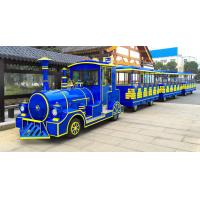Quality 62 Seats Electric Trackless Train Trackless / Outdoor Tourist Train with Lithium Battery for sale