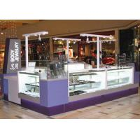 Quality Easy Install Jewelry Showcase Kiosk Attractive Purple Color Coating Wooden Material for sale